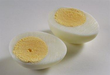 A halved hard-boiled Egg