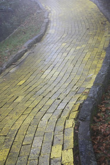 Yellow Brick Road in Forest