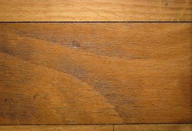 Wood flooring plank