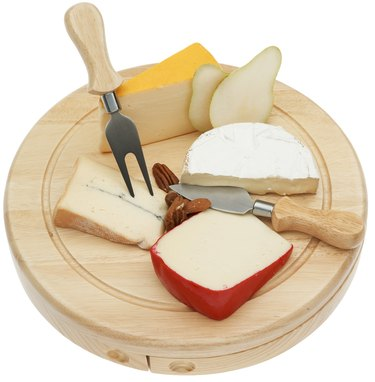 Variety of gourmet cheese