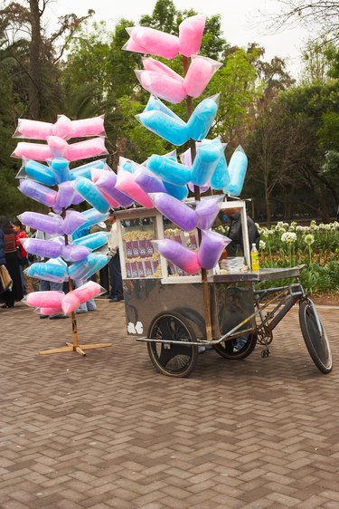 Cotton candy for sale in park