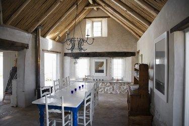 Interior of rustic home