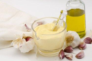 Garlic Mayonnaise Sauce. Alioli.