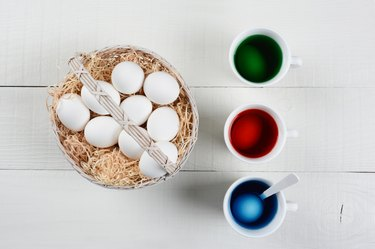 Basket of Eggs for Dying