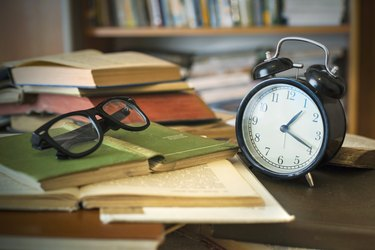 books with clock