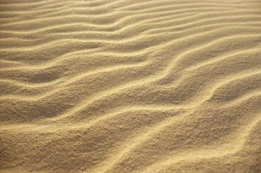 High angle view of ripples on sand