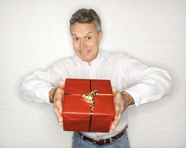Man presenting gift