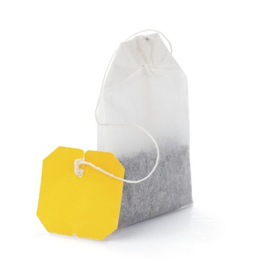Teabag with yellow label