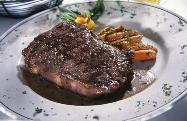 Porterhouse steak on a plate