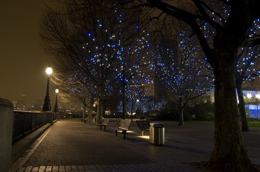 London South Bank at night