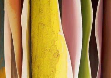Hanging  paintings, color abstract background