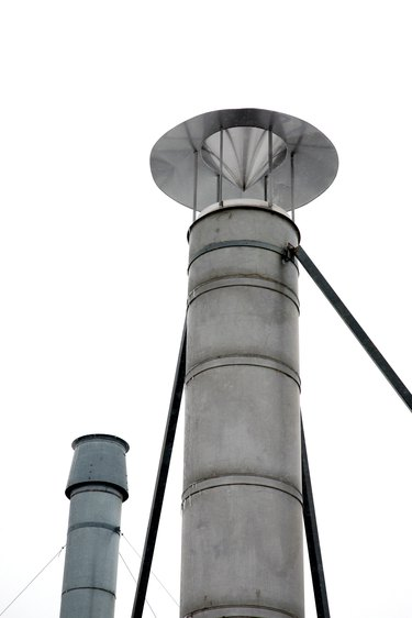 Industrial ventilation pipes outdoors