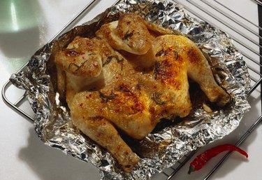 Pollo alla diavolo (marinated devilled chicken), Italy