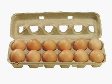A crate of eggs