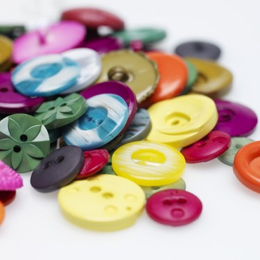 Close-up of coloured buttons
