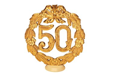 Fifty year celebration decoration