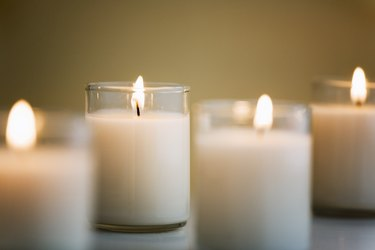 Four white candles