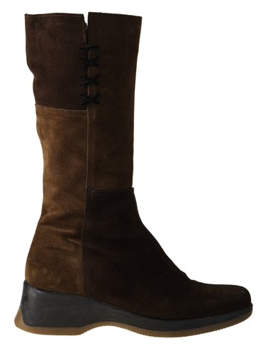 Knee-high leather boot