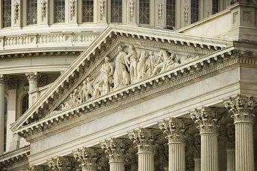 Pediment of United States Capitol Building, Washington, DC