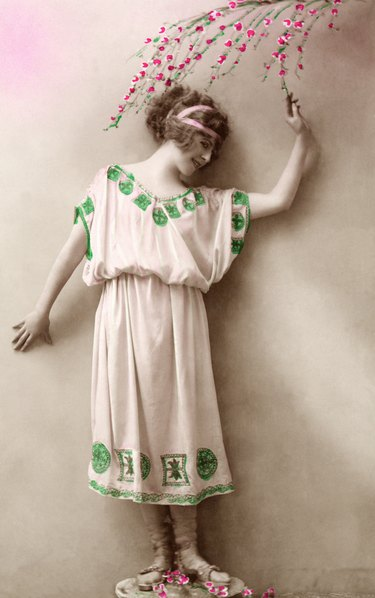 Woman in toga