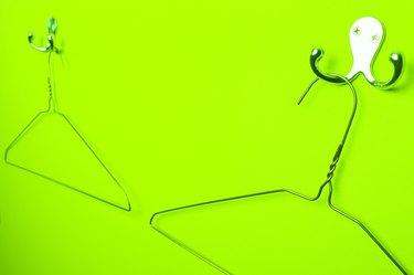 Wire hangers on hooks