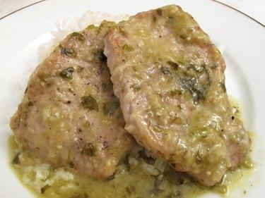 Savory Tomatillo Pork Chops