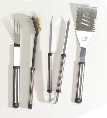 Chrome BBQ tool set