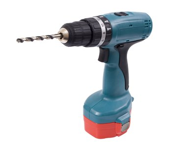 Cordless drill + clipping path
