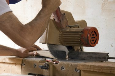 joiner at work in his shop