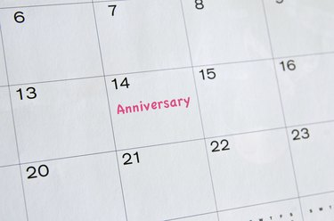 Anniversary Marked on Calender