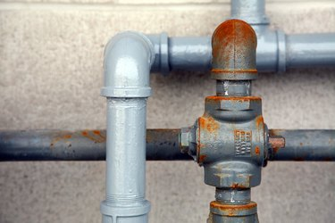 Close-up of plumbing outdoors