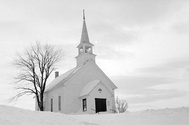 Quaint church in winter
