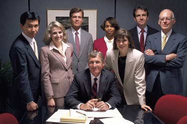 Group portrait of businesspeople