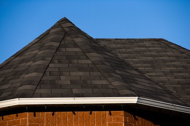 Close-up of roof pitch