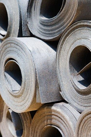 Rolls of tar paper
