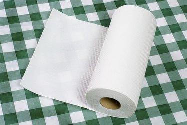 Paper towel on tabletop