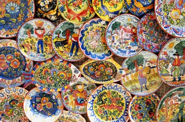 Colorful Plates, Sintra, Portugal