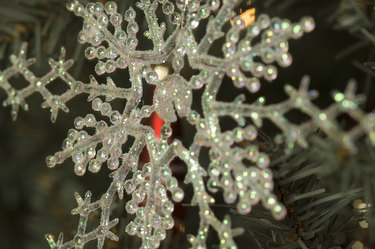 Close-up of snowflake ornament