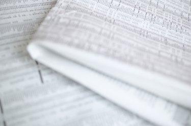 Close-up of newspaper