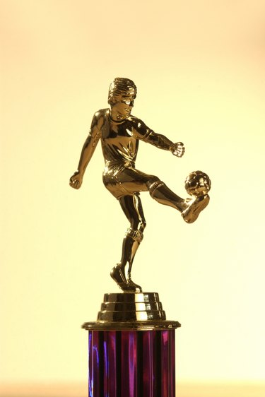 Female soccer trophy