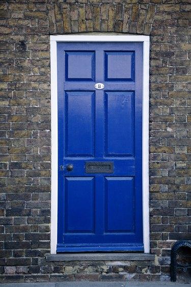 Blue door, Canterbury, England