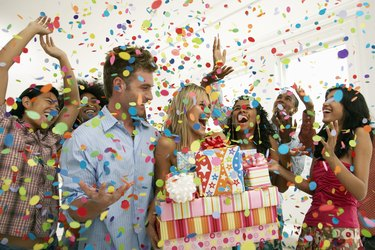 Happy People at a Birthday Party