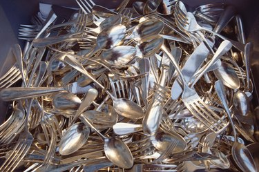 Shiny clean silverware