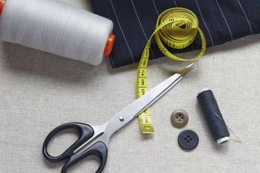 Still life photo of the sewing and handmade