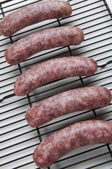 Bratwurst on broiler grill