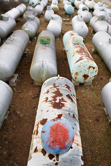Discarded propane tanks