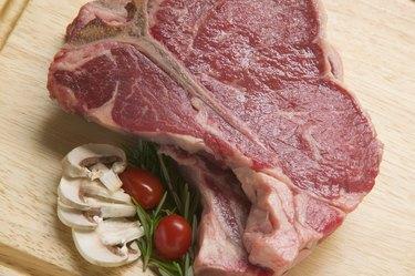 Two t-bone steaks