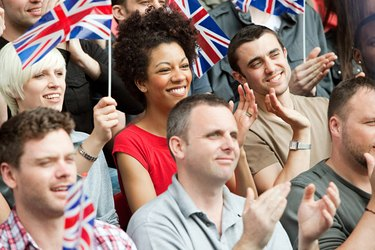 UK supporters with flags