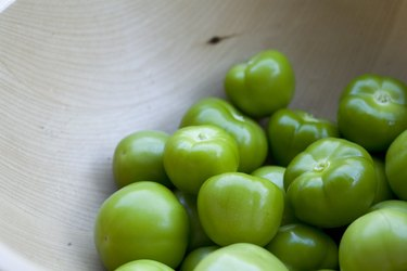 Tomatillos in a bowl