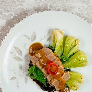 Seared Tuna and Leeks